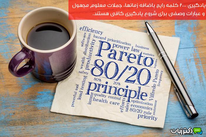 قانون ۸۰/۲۰ در یادگیری زبان انگلیسی